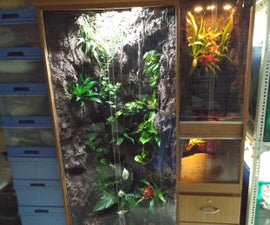 Converting clothes cabinet into a multiple vivarium enclosure