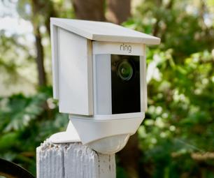 DIY Bird House Cover for Security Camera
