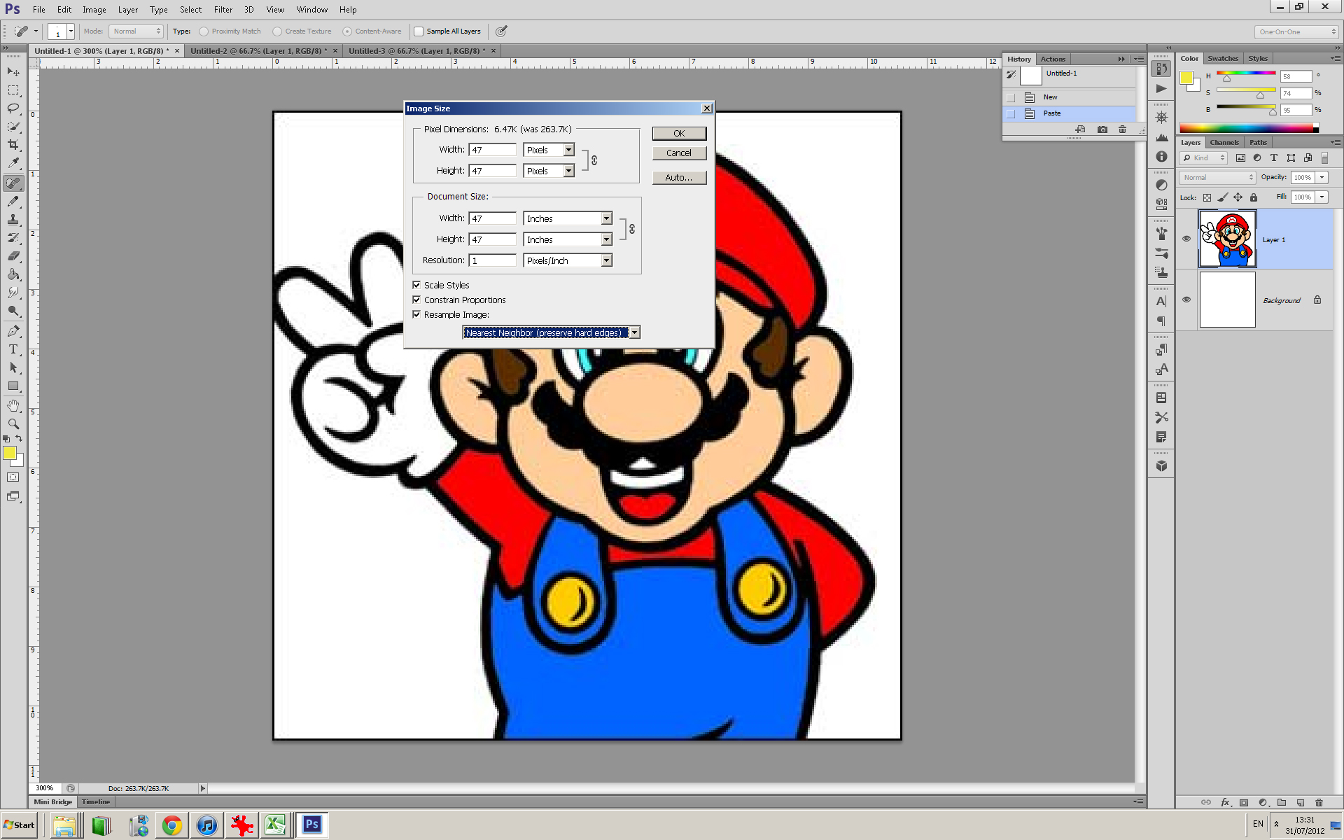Picture of Modifying the Image for the Mosaic