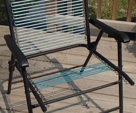 Easy Lawn Chair Webbing Repair - With Oven!