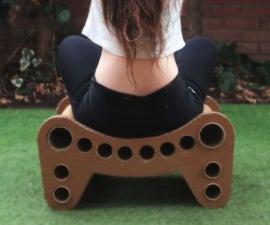 Casual cardboard stool