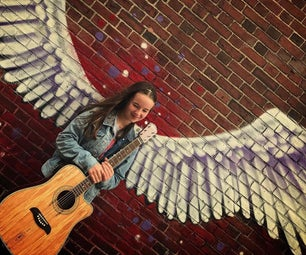 Winged Guitar Stand