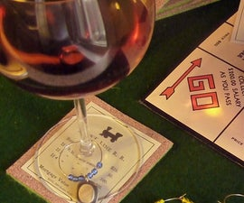Monopoly Wine Charms and Coasters