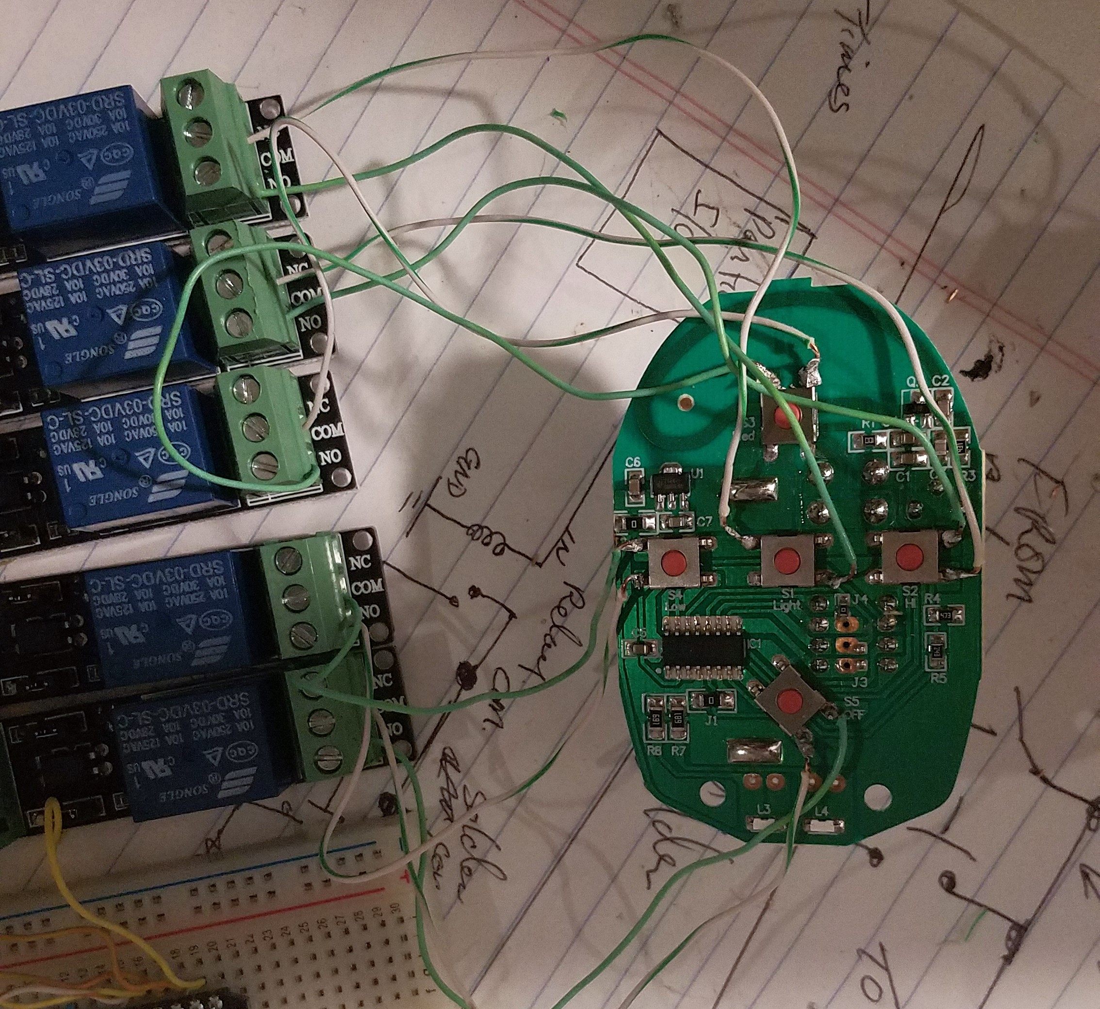 Picture of The Wiring - From Relay to Remote