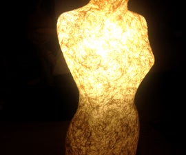 Lace Woman Floor Lamp