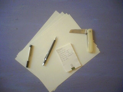 Pocketknife Paper Hipster PDA (and Business Card) Application