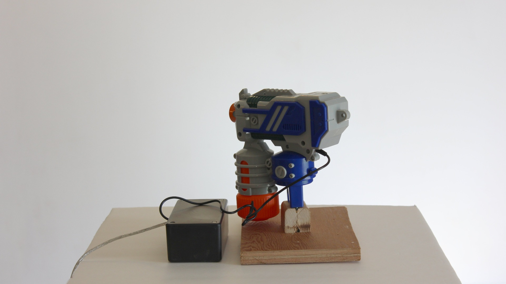 Picture of Finished Motion Activated Gun Turret