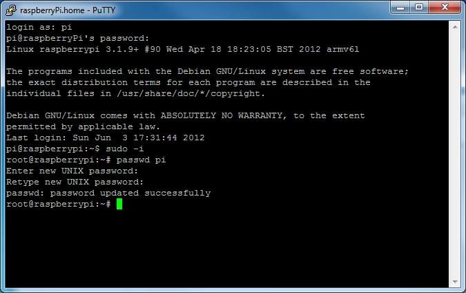 Picture of Change Default Password (IMPORTANT)