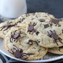 Spider Infested Chocolate Chip Cookies