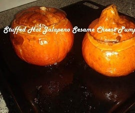 Stuffed Hot Jalapeno Sesame Cheese Pumpkin Recipe