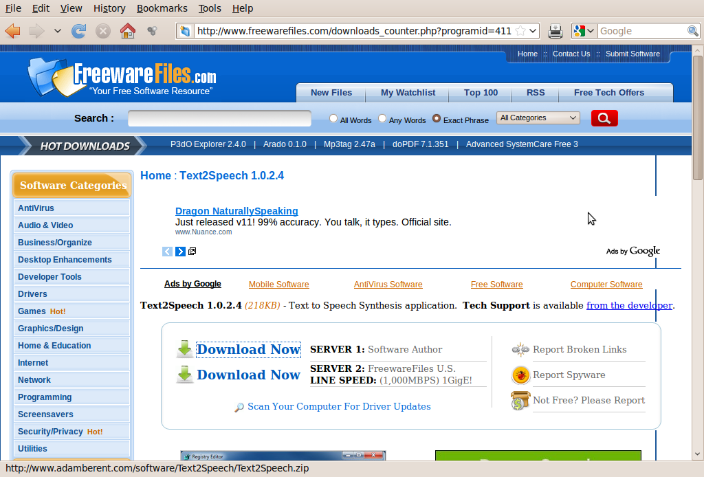 Picture of Get the Text to Wav Software.