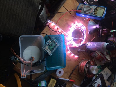 Wireless Phone Remote-Controlled LED Strips: RasPi W/ Fadecandy Driver W/ WS2811/WS2812 Addressable LED Strips W/ TouchOSC Smartphone App W/ Iphone or Droid
