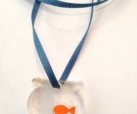 Fishbowl Pendant - a first laser-cutting project