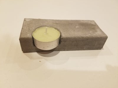 Aesthetic Cement Candle Holder