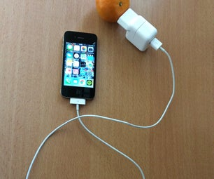 Charge His Phone With With a Fruit