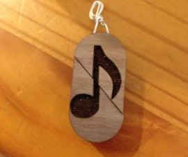 Cartouche: Wooden Heart Locket