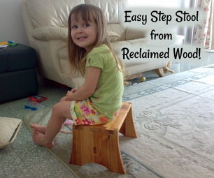 Step Stool From Reclaimed Bed Pallet