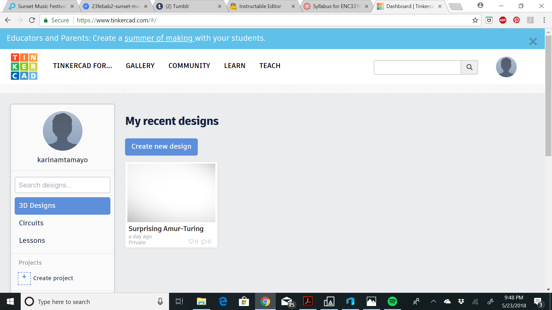 Picture of Make a Free Tinkercad Account