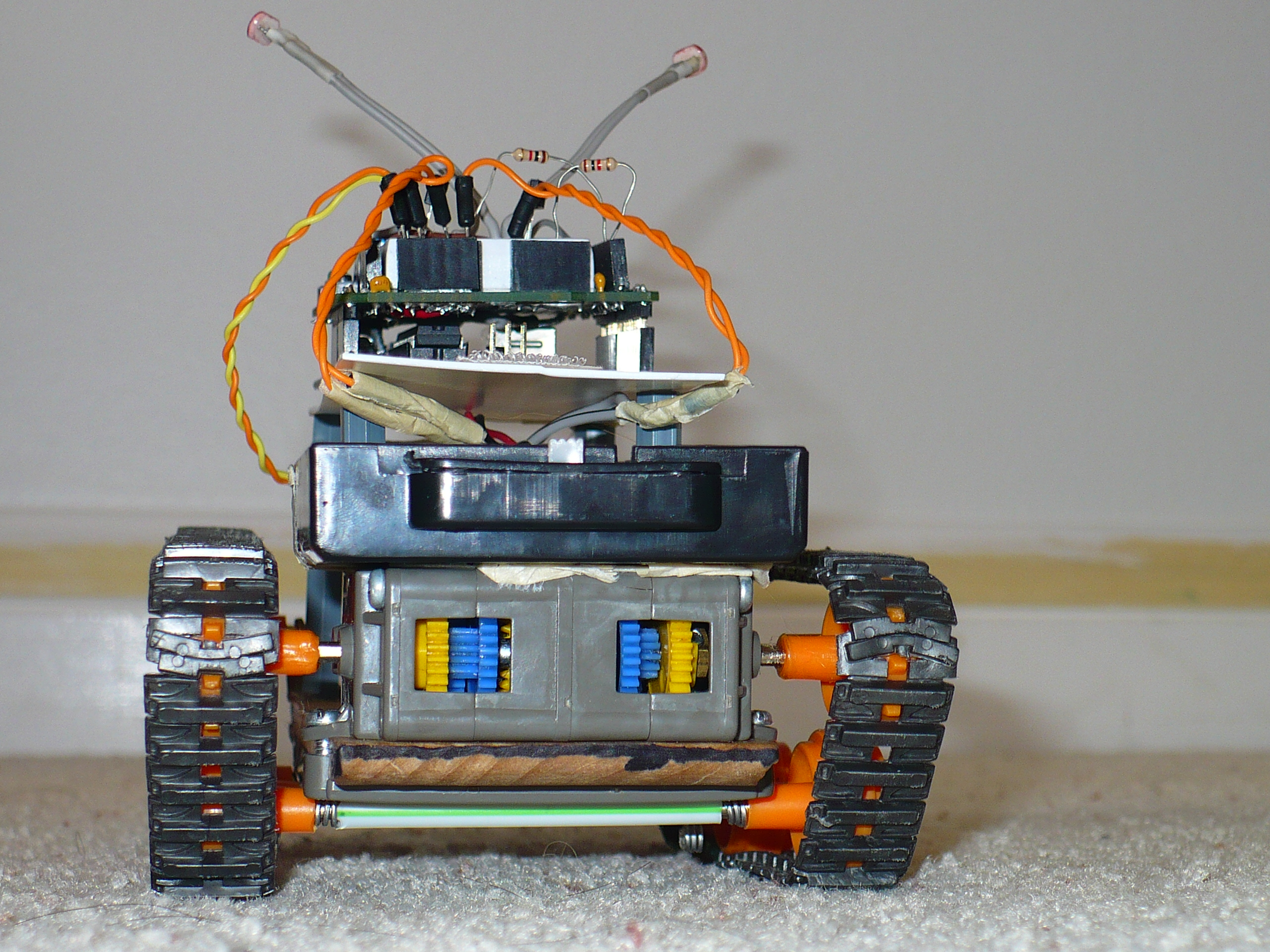 Picture of (w/ Video) Basic Arduino Robot, Light Seeker!
