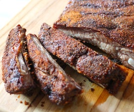 oven cooked ribs with spicy dry rub