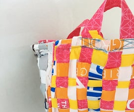 Reusable Grocery Bag- Woven Out of Old Shopping Bags!