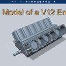 3D V12 engine