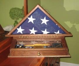Military Flag Memorial Case