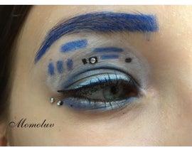 R2D2 Makeup Look