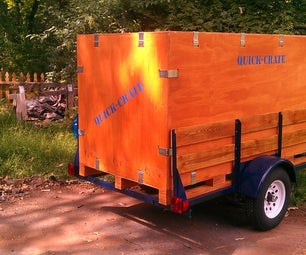 Quick-Crate Collapsible Utility Trailer