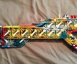 Jareds T.B.A.R (Tactical Bullpup Assault Rifle) Knex Weapon Of mass Destruction:)