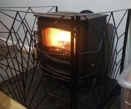 Art Deco Fireguard for Log Burner