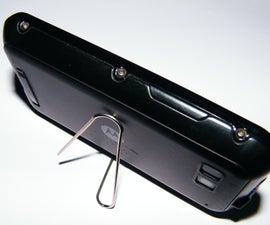 DIY Phone Stand - Paper Clip Mobile Phone Stand - 2min, $0 Project