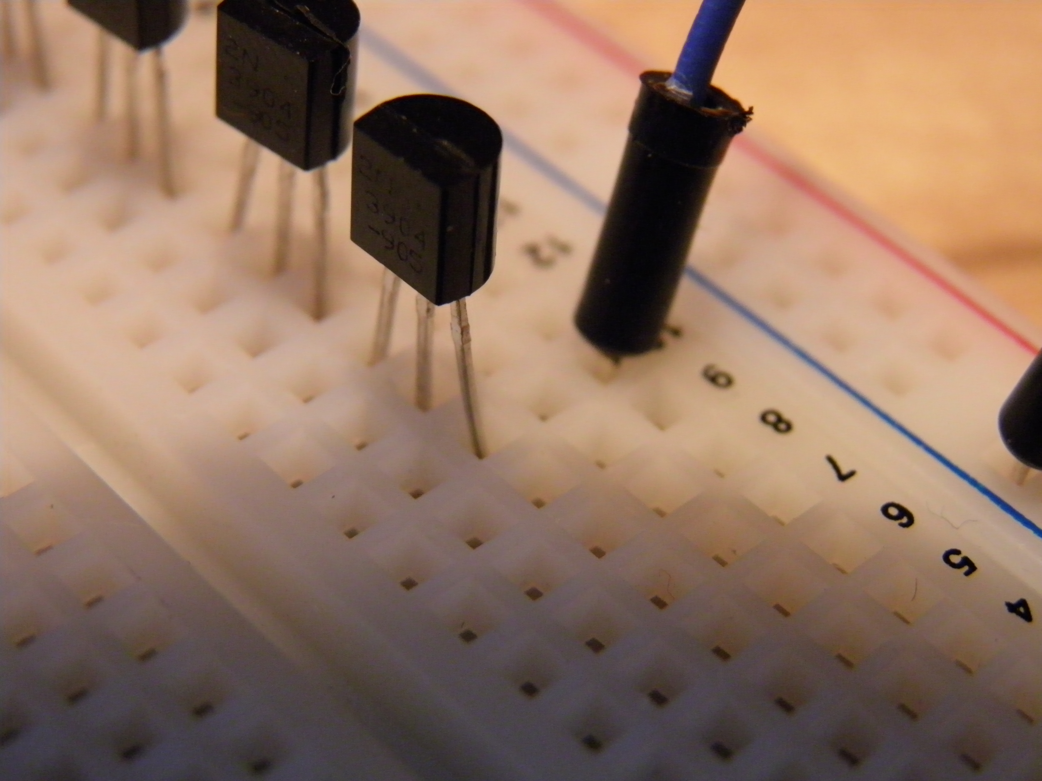 Picture of Start Wiring Up All of the Transistors