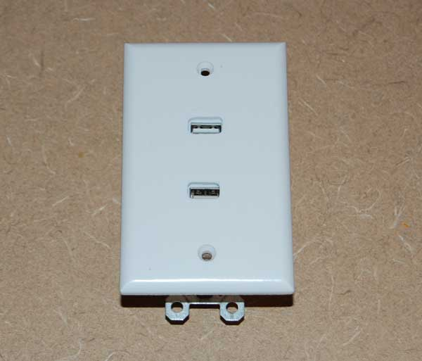 Picture of Glue the Mini Chargers to the Wall Plate