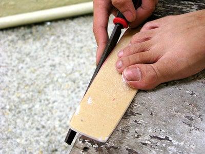 Sanding & Filing the Edges