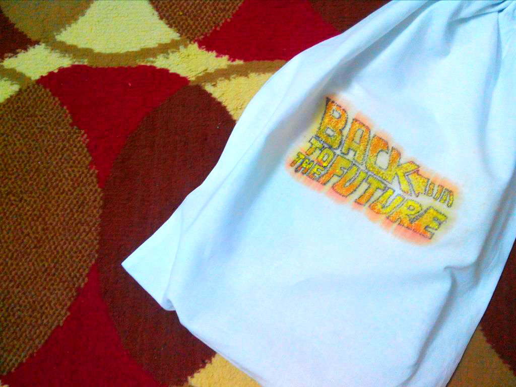 Picture of DIY Back to the Future Cloth Print Using Crayons!