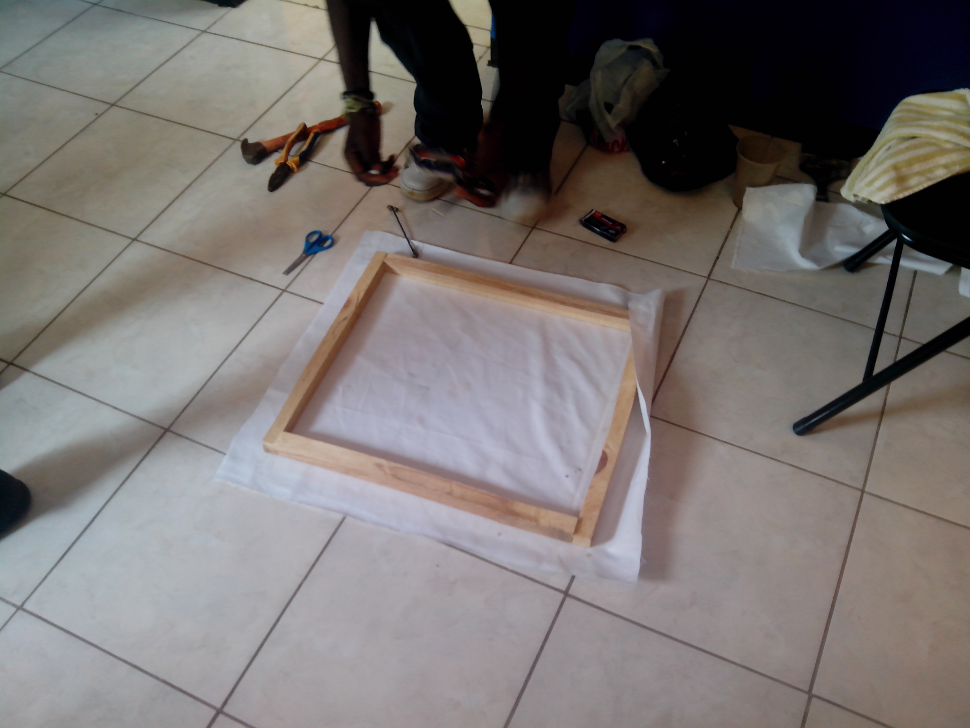 Picture of Place the Fabric Onto the Frame