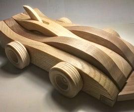Mechanical Wood Toy Car