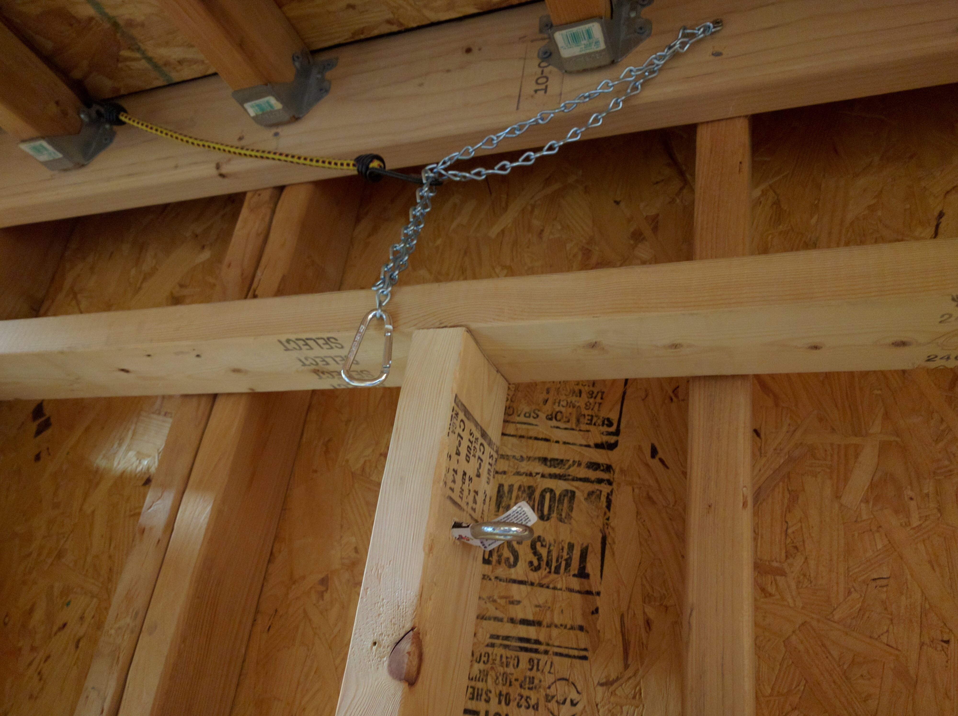 Picture of Mount the Plywood to the Frame & Attach Chain
