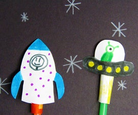 Outer Space Straw Launcher