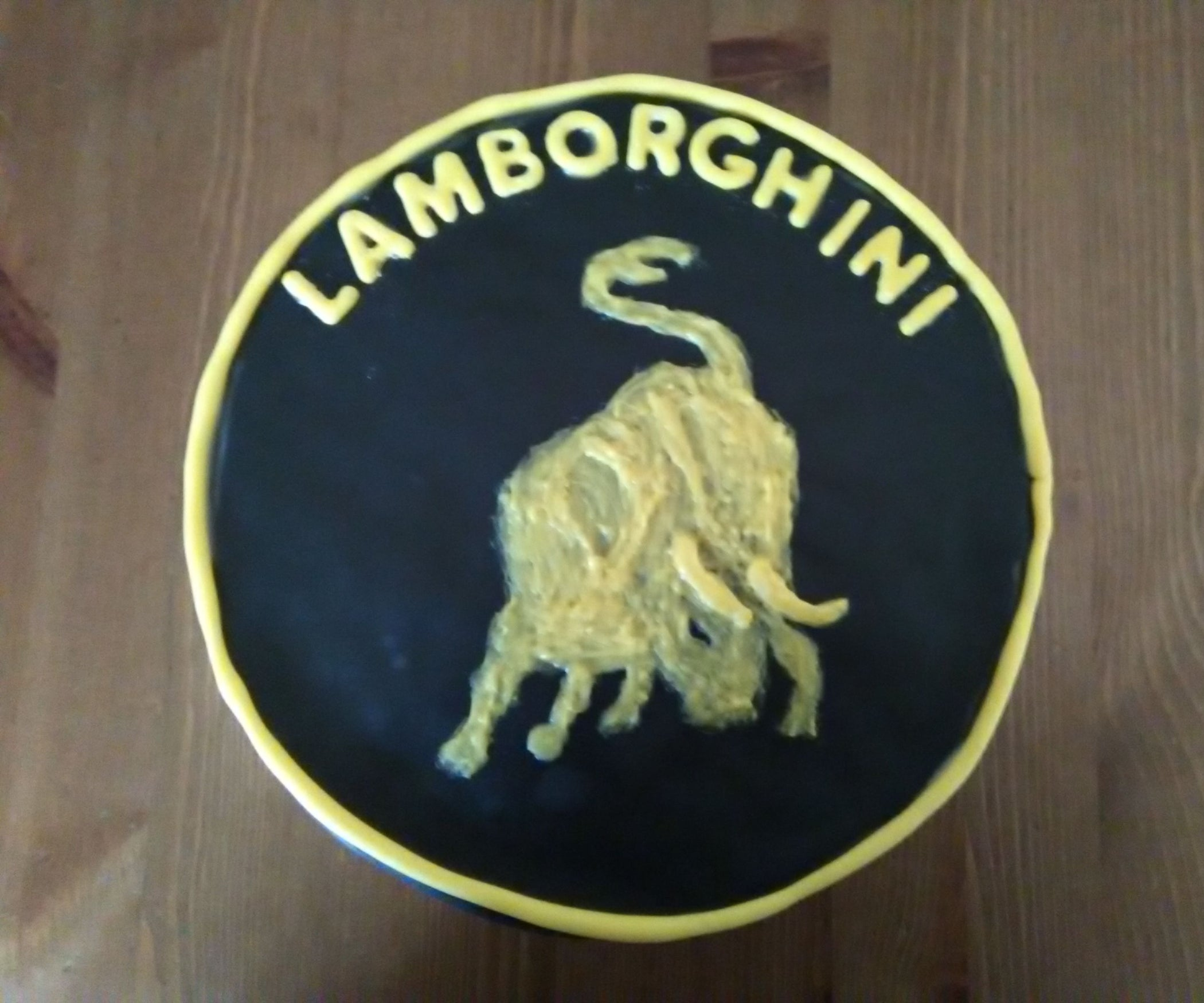 Lamborghini Logo Cake 6 Steps With Pictures