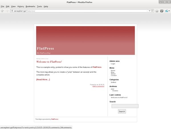 Raspberry Pi Simple Blog Server.
