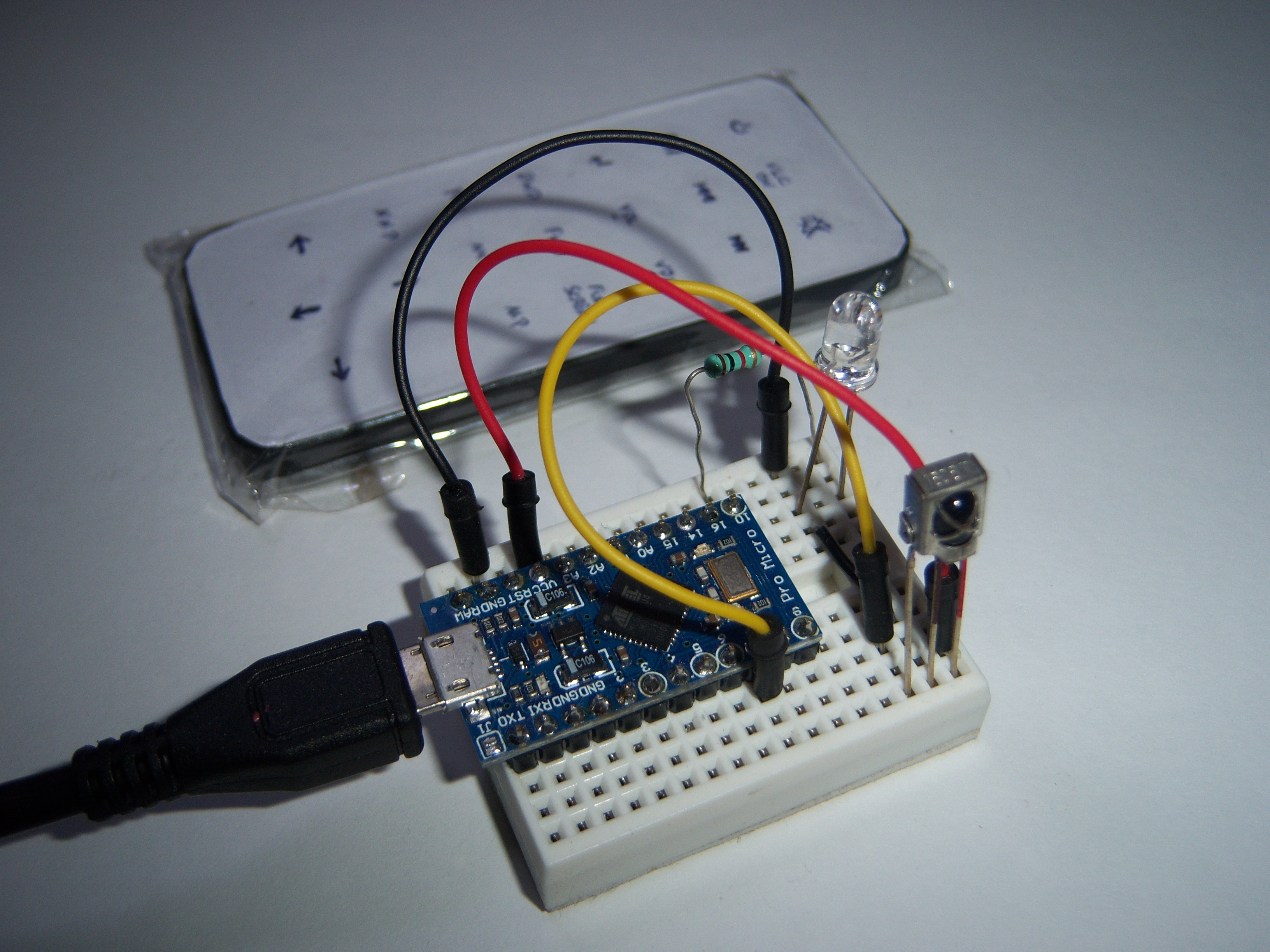 Picture of PC Remote Control Using Arduino Pro Micro