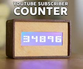 YouTube Subscriber Counter Using an ESP8266 Board