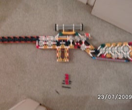 Knex Shell ejecting, Bolt action, Spring loaded mag Sniper Rifle