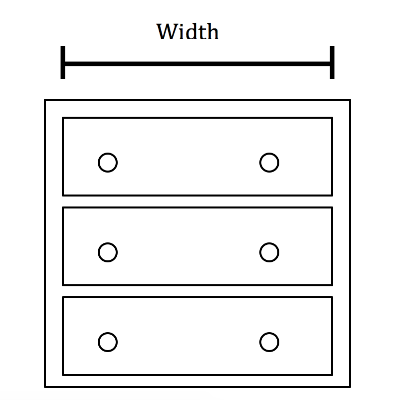 Picture of Next Step Is to Measure the Width of the Dresser