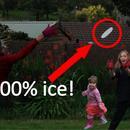 Ice Frisbee! (Ice Vs Plastic)