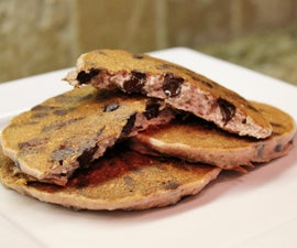 Dark Chocolate Raspberry Pancakes (gluten free)