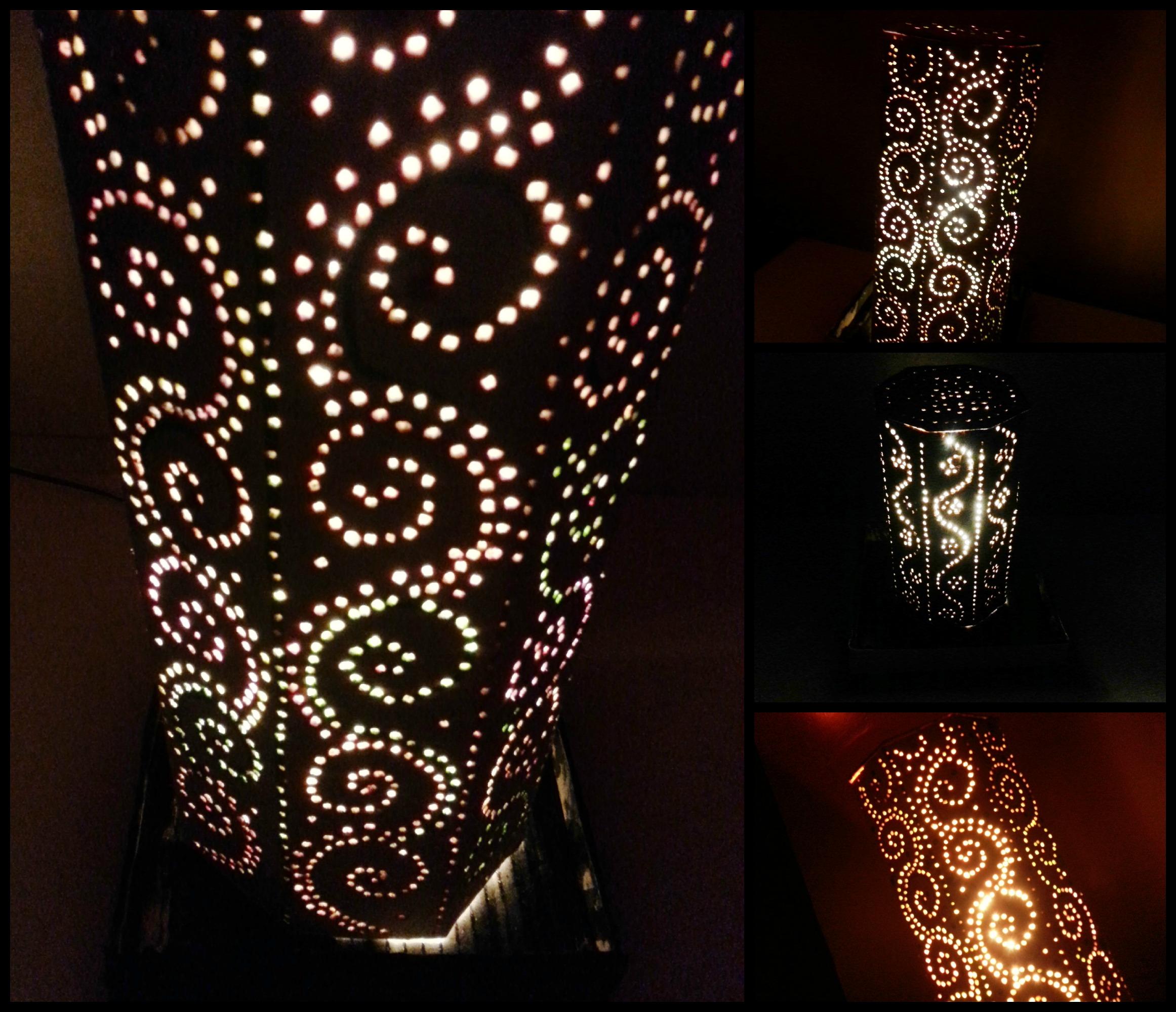 DIY Lampshade:DIY Moroccan Inspired Lampshade,Lighting