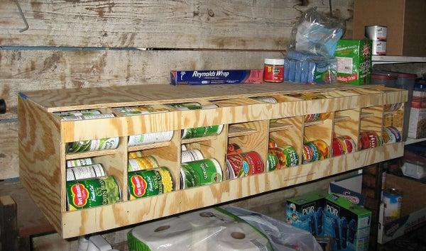 81 Can FIFO - Bulk Can Dispenser / Organizer